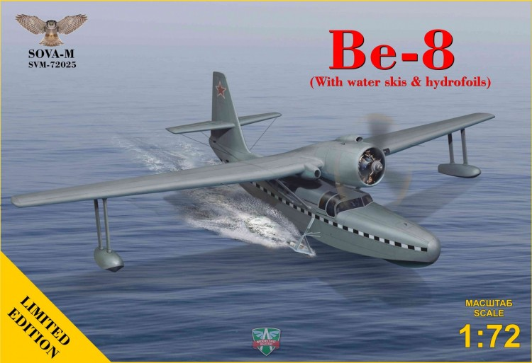 Be-8 soviet seaplane aircraft with water skis
