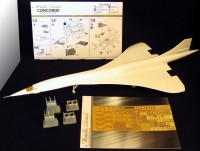 Detailing set for aircraft model Concorde photo-etched