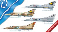 Kfir C1/C2 Israel fighter plastic model kit