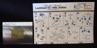 Detailing set for aircraft model VC-140b JetStar photo-etched