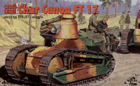 Char Canon FT 17 turret Berliet