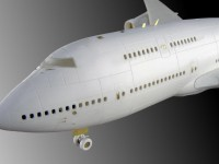 Detailing set for aircraft model Boeing 747 (Revell) photo-etched