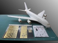 Detailing set for aircraft model Airbus A380 (Revell) photo-etched