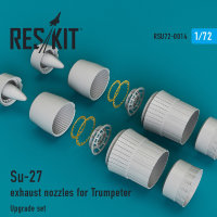 Su-27 exhaust nozzles for Trumpeter 1/72