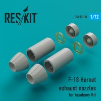 F-18 Hornet exhaust nozzles for Academy Kit 1/72