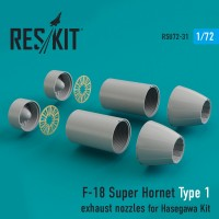 F-18 Super Hornet Type 1 exhaust nozzles for Hasegawa Kit 1/72