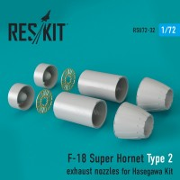 F-18 Super Hornet  Type 2 exhaust nozzles for Hasegawa Kit 1/72