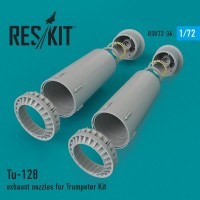 Tu-128 exhaust nozzles for Trumpeter Kit 1/72