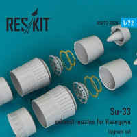 Su-33 exhaust nozzles for Hasegawa 1/72