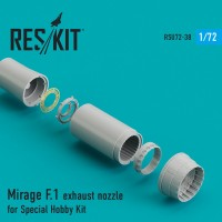 Mirage F.1 exhaust nozzle for Special Hobby Kit 1/72