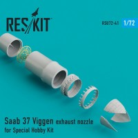 Saab 37 Viggen exhaust nozzle for Special Hobby Kit 1/72