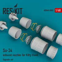 Su-34 exhaust nozzles for Kitty Hawk 1/48