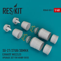 Su-27/27UB/30MKK exhaust nozzles for Hobby Boss 1/48