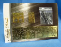 Detailing set for aircraft model Tu-204 (Zvezda) photo-etched