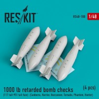 1000 lb retarded bomb checks (117 tail-951 tail fuze)  1/48