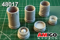 Su-7/Su-7B engine exhaust accessories-for-plastic model-kit