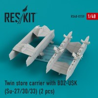 Twin store carrier with BDZ-USK (Su-27/30/33) (2 pcs) 1/48