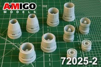 Su-35S engine exhaust nozzle for Hasegawa plastic kit