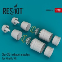 Su-33 exhaust nozzles for Kinetic Kit 1/48