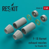 F-18 Hornet exhaust nozzles for Kinetic Kit 1/48