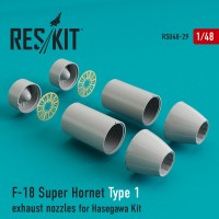 F-18 Super Hornet Type 1 exhaust nozzles for Hasegawa  1/48