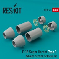 F-18 Super Hornet Type 1  exhaust nozzles for Revell 1/48