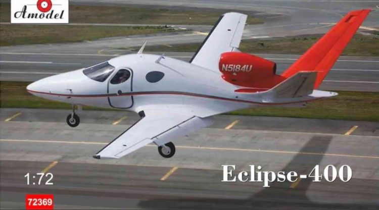 Eclipse 400 aircraft plastic model kit
