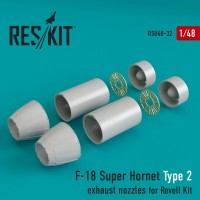 F-18 Super Hornet Type 2  exhaust nozzles for Revell 1/48