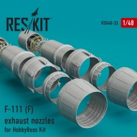 F-111 (F) exhaust nozzles for HobbyBoss Kit 1/48