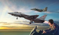 TOP GUN  F-14A vs A-4F plastic model kit (set of 2 models)