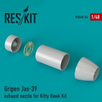 Gripen Jas-39 exhaust nozzle for Kitty Hawk Kit 1/48