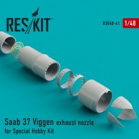 Saab 37 Viggen exhaust nozzle for Special Hobby Kit 1/48