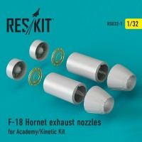 F-18 Hornet exhaust nozzles for Academy/Kinetic Kit 1/32
