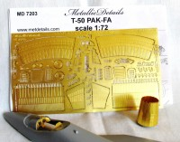 Detailing set for aircraft T-50 PAK-FA (Zvezda) photo-etched