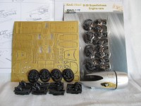 Detailing set for aircraft model B-29. Engine cars (Academy) photo-etched