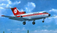 Yak-40 (later series) passenger aircraft plastic model
