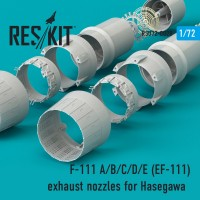 F-111 A/B/C/D/E (EF-111) exhaust nozzles for Hasegawa KIT 1/72