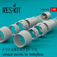 F-111 A/B/C/D/E (EF-111) exhaust nozzles for HobbyBoss KIT 1/48