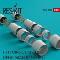 F-111 A/B/C/D/E (EF-111) exhaust nozzles for Academy KIT 1/48