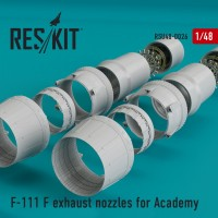 F-111 F exhaust nozzles for Academy KIT 1/48
