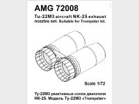 Tu-22M3 engine NK-25 exhaust nozzle for Trumpeter plastic-model-kit