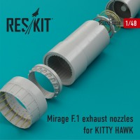 Mirage F.1 exhaust nozzles for KITTY HAWK KIT 1/48