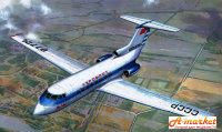 Yak-40 (early series) passenger aircraft plastic model