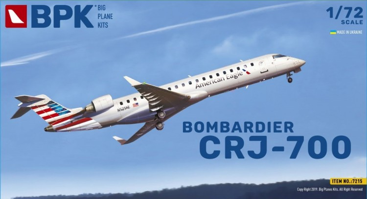 CRJ-700 aircraft kit 1/72