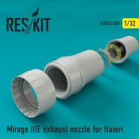 Mirage IIIE exhaust nozzle for Italeri 1/32