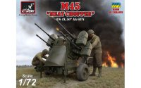 M45 Quadmount, US WWII 4x 12.7mm M2HB Turret on M20 trailer сборная модель 1/72