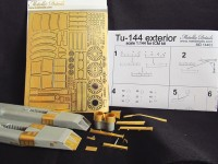 Detailing set for aircraft Tu-144 (ICM) photo-etched